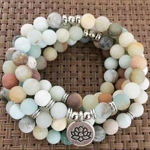 Prana heart amazonite bracelet/necklace healing